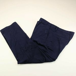 Club Room Men's Dress Pants Navy Blue Flat Front